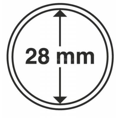Капсула 28 мм для хранения монет.