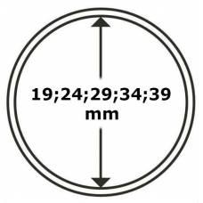 """Универсальная круглая капсула для монет размер """"B"""" (19;24;29;34;39мм)."""