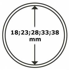 "Универсальная круглая капсула для монет размер ""C"" (18;23;28;33;38мм)."