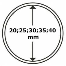 """Универсальная круглая капсула для монет размер """"A"""" (20;25;30;35;40мм)."""