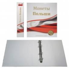 """Папка стандарт """"Optima"""" 230х270 """"Монеты Польши"""" (без листов)."""