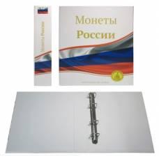 """Папка стандарт """"Optima"""" 230х270 """"Монеты России"""" (без листов)."""