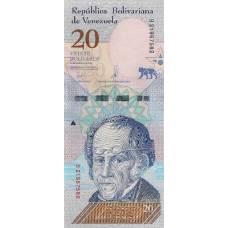 20 боливаров Венесуэла 2018 UNC
