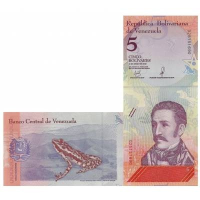 5 боливаров Венесуэла 2018 UNC