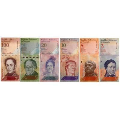 Венесуэла набор из 6 банкнот - от 2 до 100 боливар