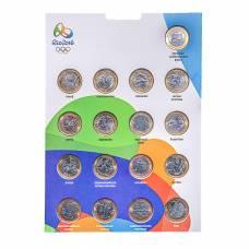 «Олимпиада в Рио 2016» - Набор - 17 монет в альбоме