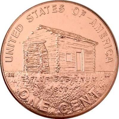 "1 цент 2009 США ""200-летие Авраама Линкольна. Детство в Кентукки"""