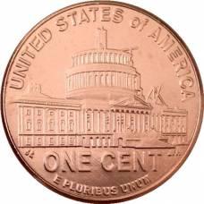 "1 цент 2009 США ""200-летие Авраама Линкольна. Президентство в Вашингтоне"""