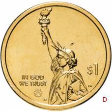 """1 доллар США 2019  """"Американские инновации - Классификация звезд Энни Кэннон"""" Двор """"D"""""""
