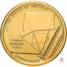 """1 доллар США 2020 """"Американские инновации - Переменная шкала Гербера"""" Двор """"D"""""""