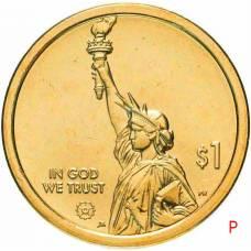 """1 доллар США 2020  """"Американские инновации - Переменная шкала Гербера"""" Двор """"P"""""""