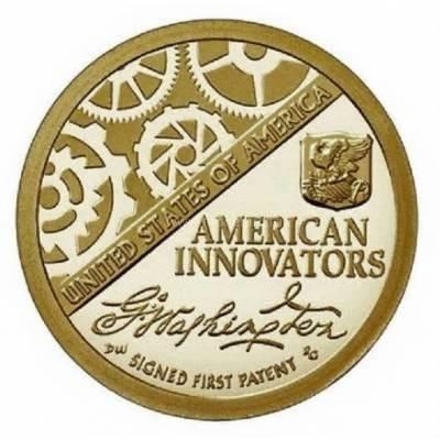 """1 доллар 2018 США """"Американские инновации - Первый патент"""" Двор """"D"""""""