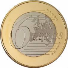 """6 sex euro"" Сувенирная монета"