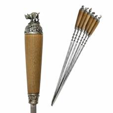 Набор шампуров (мельхиор)